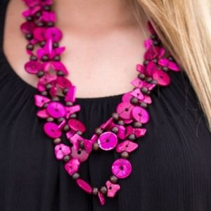 paparazzi Jewelry - Living The Tropical Life Pink Beaded Necklace Set